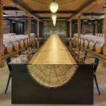 שולחן גזע עץ